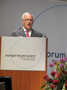 Bundesrat Johann Schneider-Ammann am Europa Forum Luzern, 09.05.2011