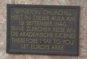 Andenken an Churchill's Rede von 1946