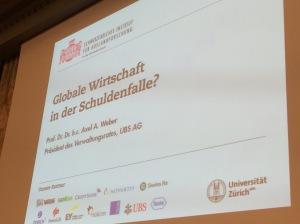Axel A. Weber: Globale Wirtschaft in der Schuldenfalle?